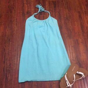 Mint colored halter dress